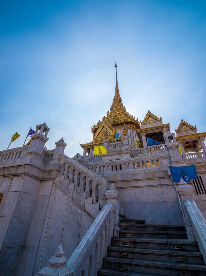 Traimitr寺庙,曼谷,泰国 库存照片