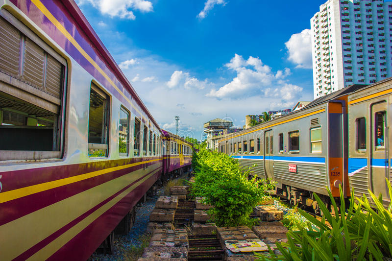 Train à Bangkok photo libre de droits