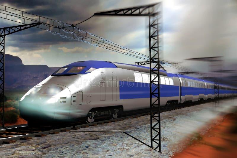 Train à grande vitesse illustration stock