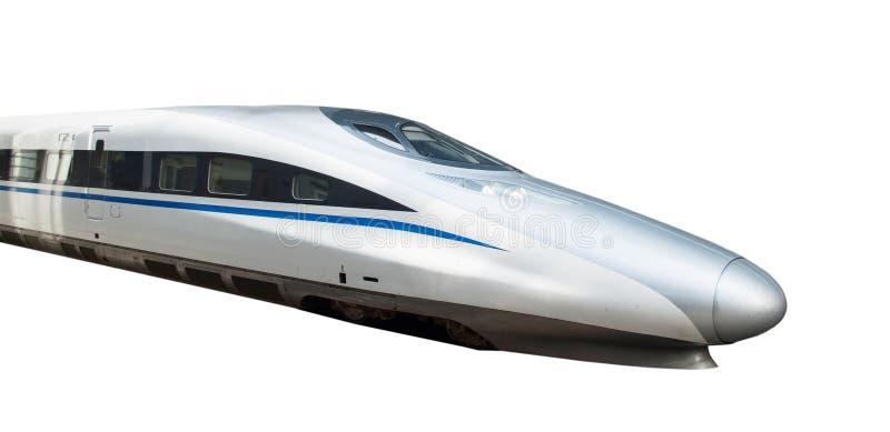 Train à grande vitesse d'isolement photographie stock libre de droits