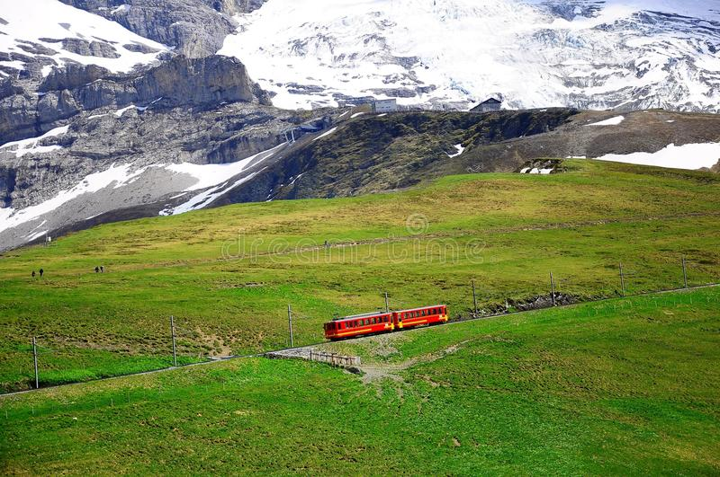 Train à Jungfraujoch. La Suisse. photos stock