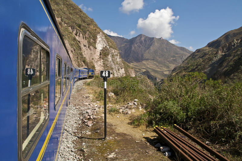 Train à Machu Picchu images stock