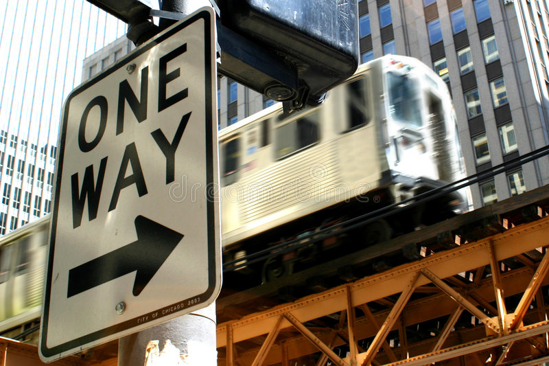Train à sens unique de /El image stock