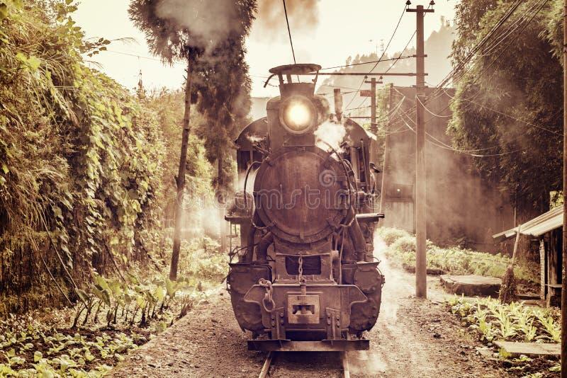 Train à voie étroite de vapeur photo stock