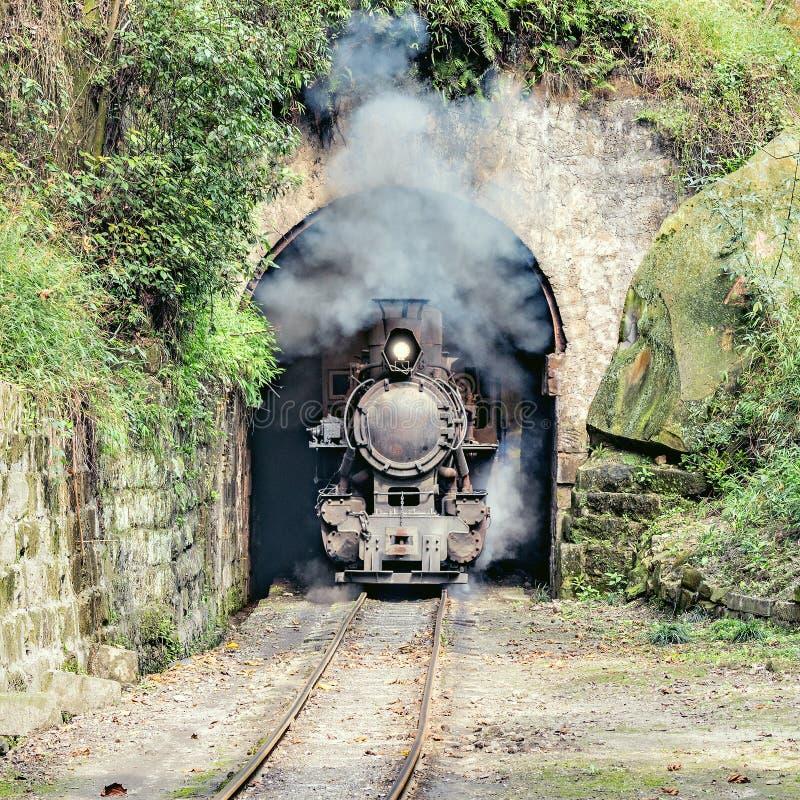 Train à voie étroite de vapeur images libres de droits