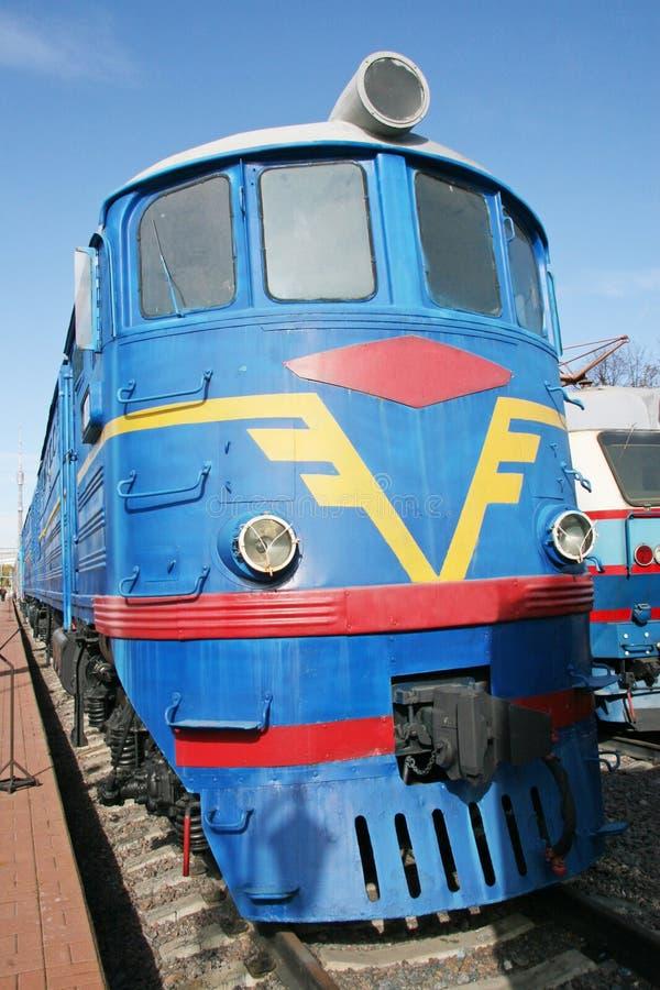 Train électrique bleu photos stock