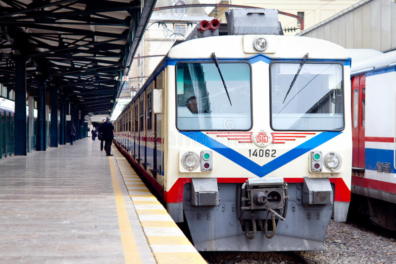 Train électrique dans Haydarpasa photo stock