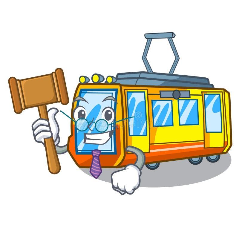 Train électrique miniature de juge dans la forme de bande dessinée illustration stock