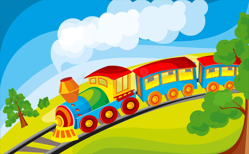 Train illustration libre de droits