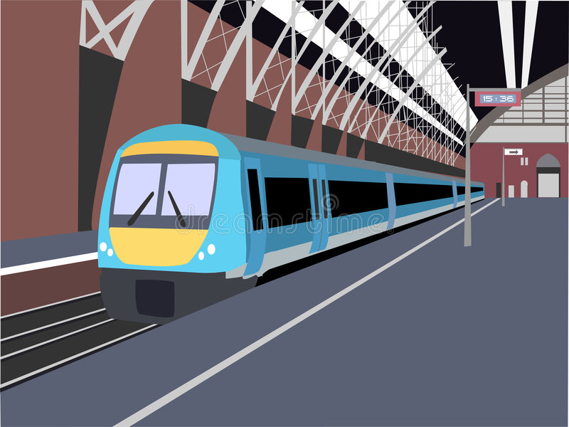 Download Train stock illustration. Image of open, vacant, train - 506005