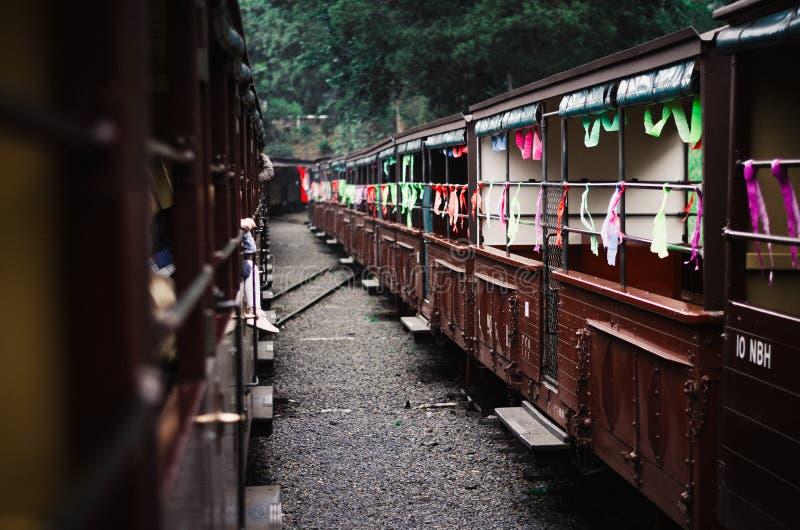 Train abandonné images stock
