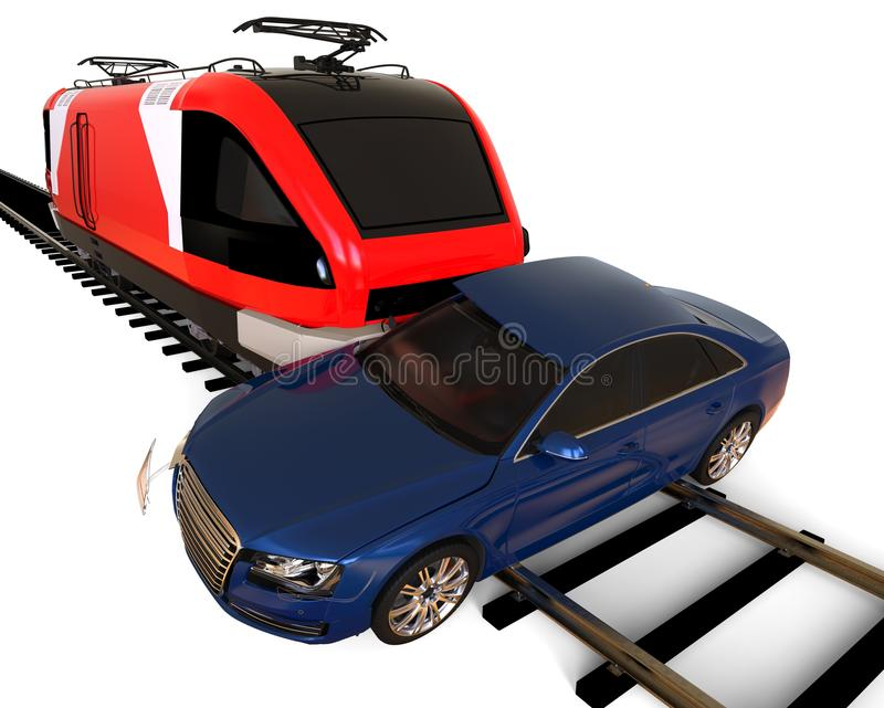 Train accident concept stock illustration