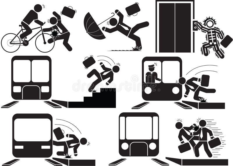 Train accident stock illustration