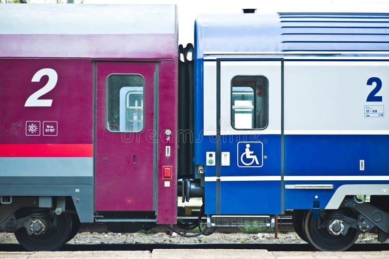 Train accouplé image libre de droits
