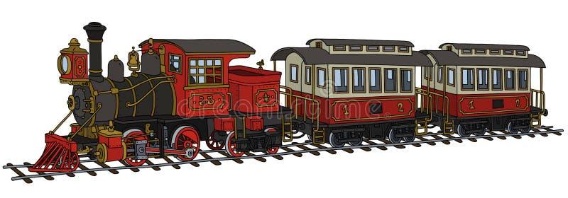 Train américain classique de vapeur illustration stock