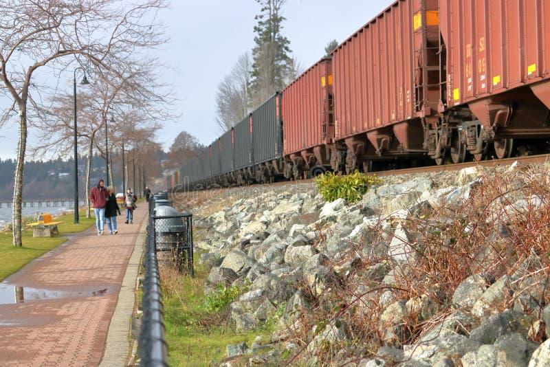 Train américain de cargaison de BNR photographie stock