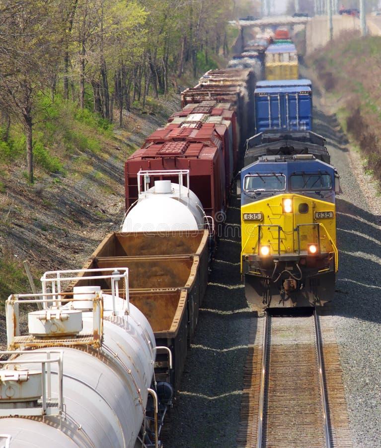 Train approchant photos stock