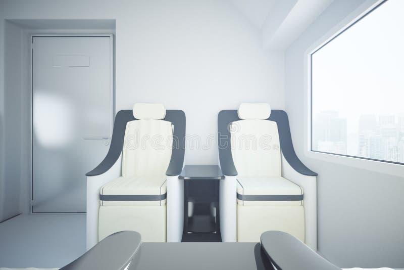 Train armchairs front stock illustration