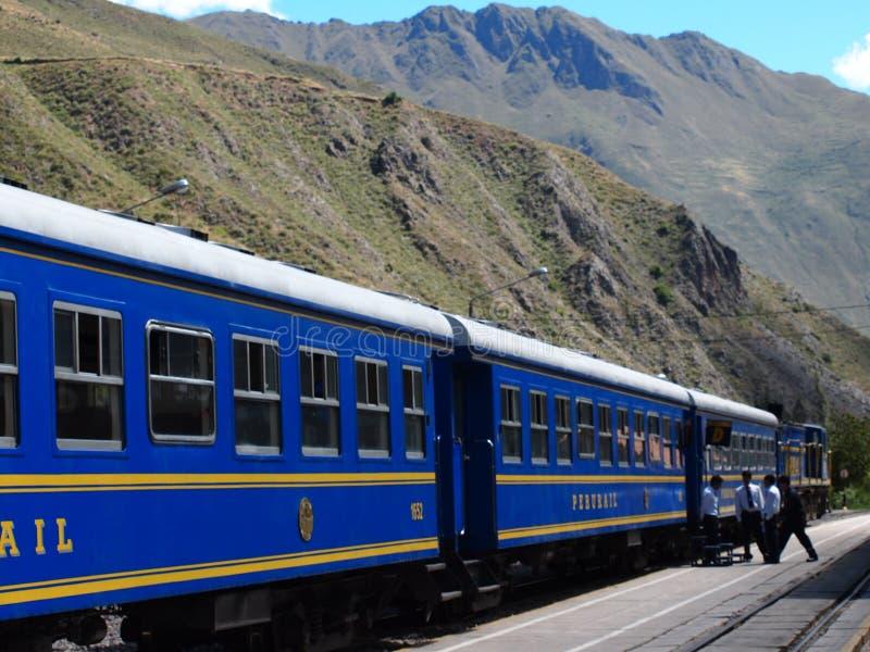 Train aux Aguas Calientes (Machu Picchu) photographie stock libre de droits