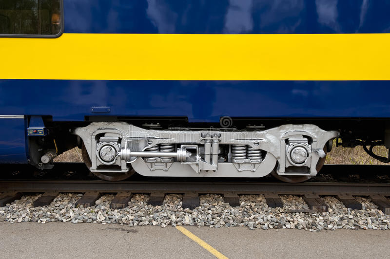 Train axle royalty free stock image