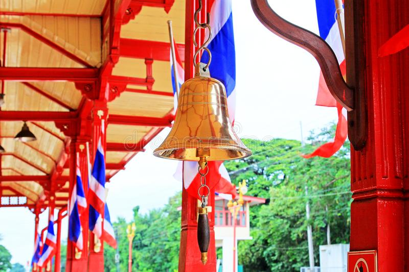 Train Bell In Hua Hin Railway Station, Hua Hin, Thailand royalty free stock photos