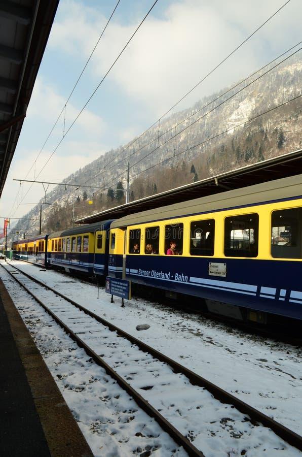Train Berner Overland Bahn royalty free stock images