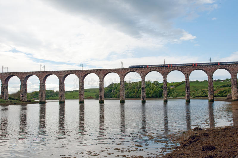 Train and berwick viaduct