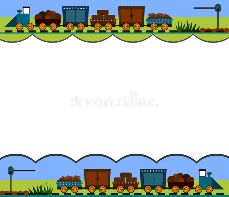 Download Train border stock illustration. Image of decoration - 22008754