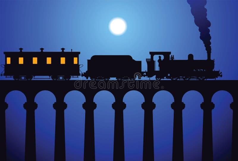 Download Train on the bridge stock vector. Illustration of rail - 14525012