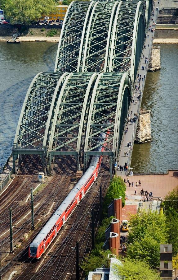Train and bridge royalty free stock photo