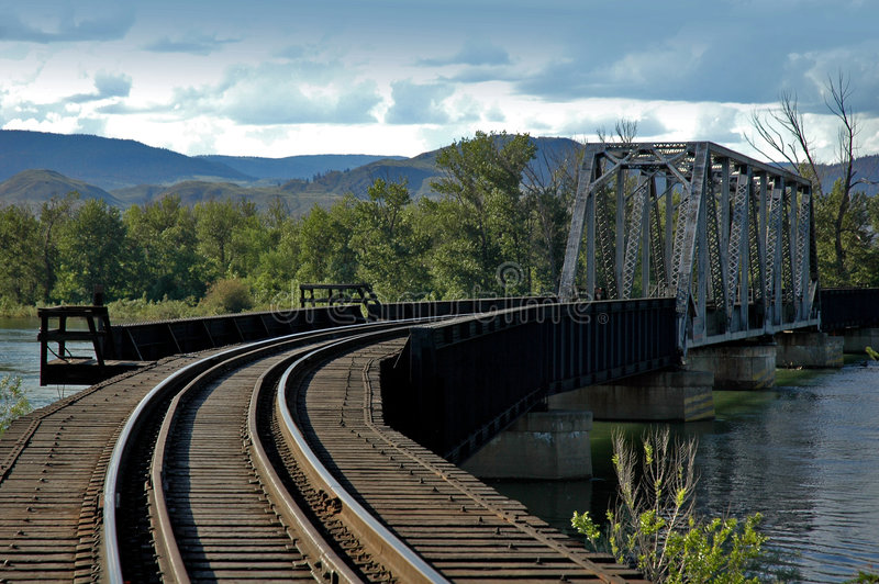 Train Bridge royalty free stock photos