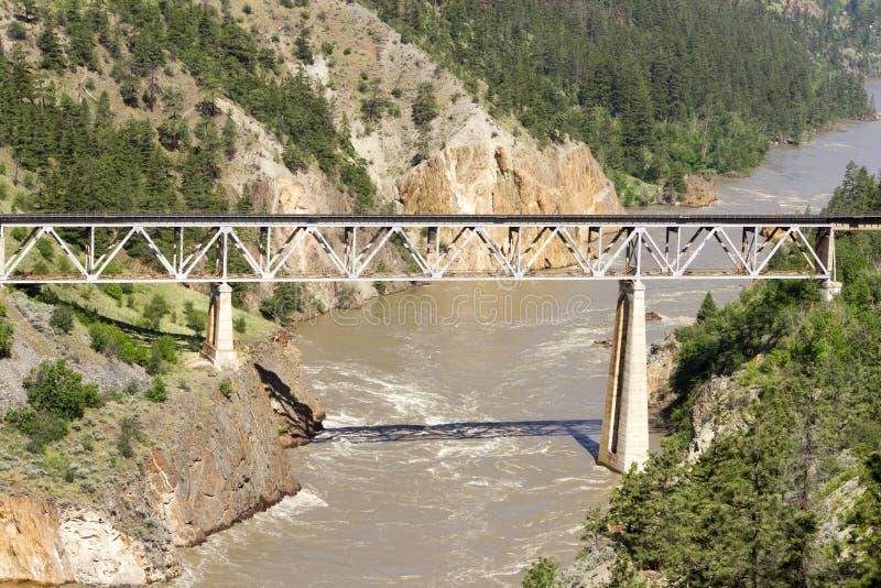 Train Rail Bridge Fraser River stock photography