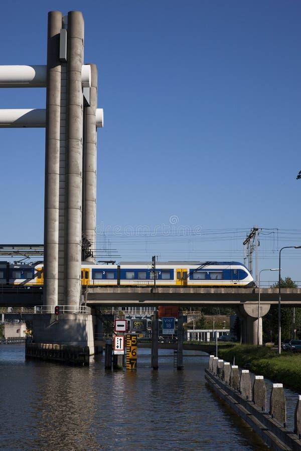 Trainbridge royalty free stock photos