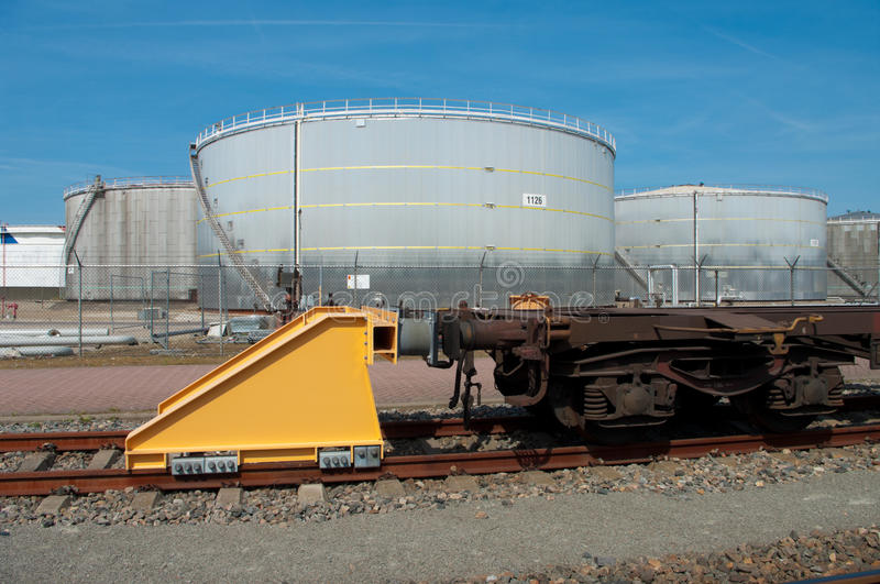 Download Train buffer stop stock photo. Image of closure, plank - 20099584