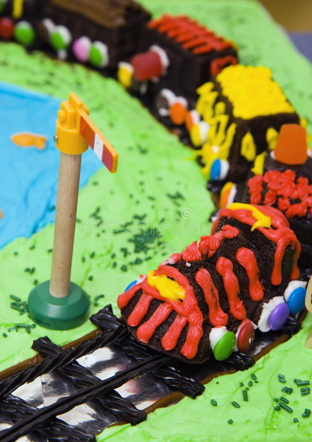 Train cake stock image