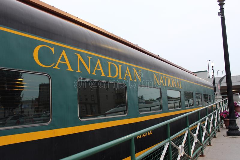 Train canadien images stock