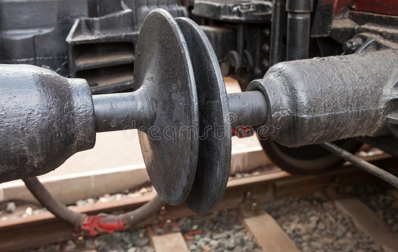 Train car coupler joint stock images