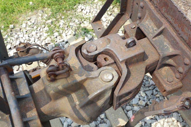 Train car hook coupler royalty free stock photo