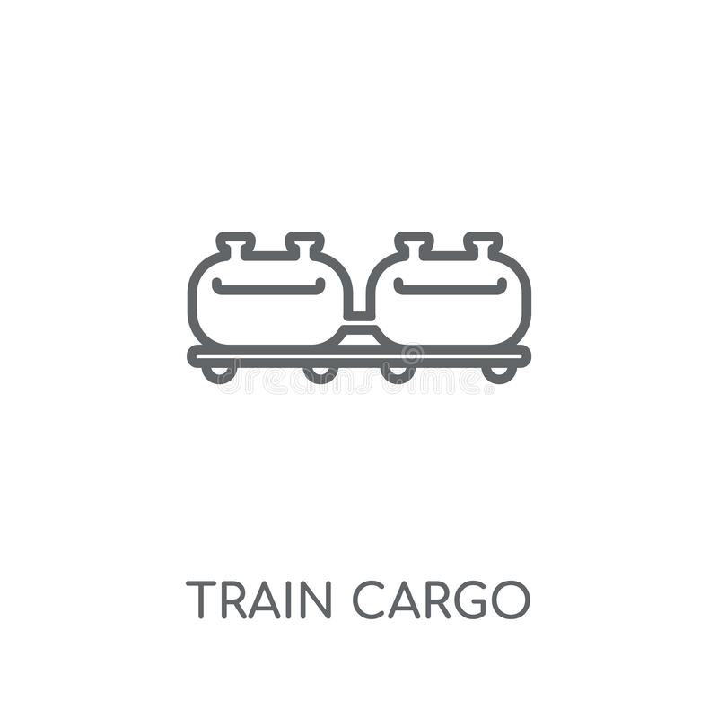 Train cargo linear icon. Modern outline Train cargo logo concept. On white background from Industry collection. Suitable for use on web apps, mobile apps and vector illustration