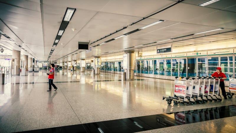 Train Chek Lap Kok Hong Kong d'aéroport photo libre de droits