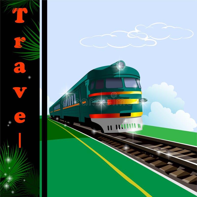 Train, chemin de fer illustration stock