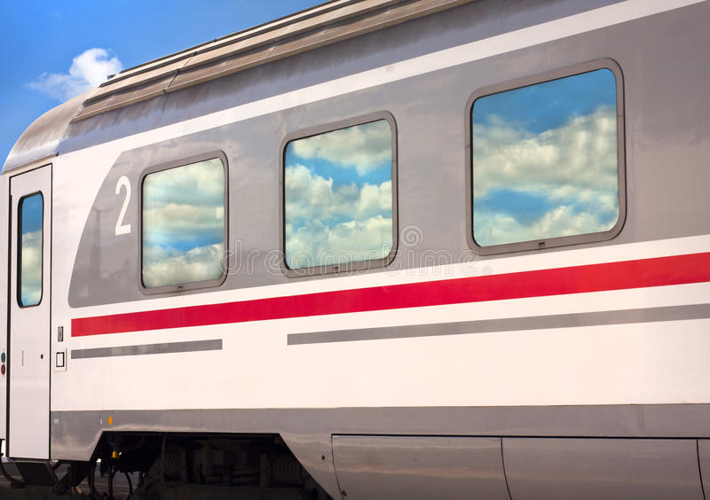 Download Train With Cloud Reflections Stock Images - Image: 14725764
