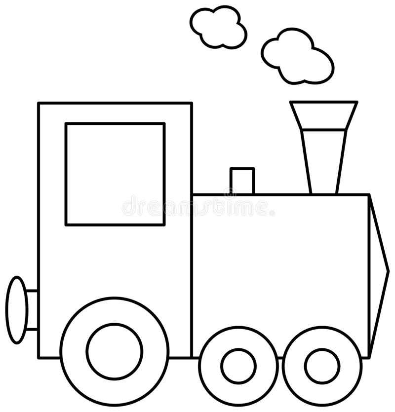 Train Coloring Book Page Stock Vector Illustration Of Public 142499322