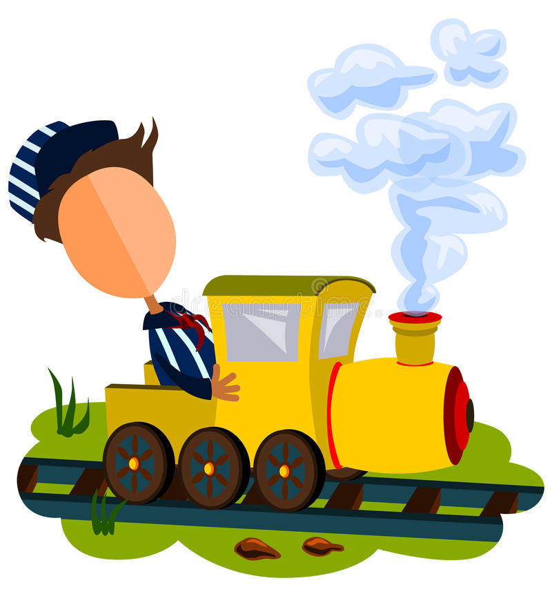 Train conductor royalty free illustration
