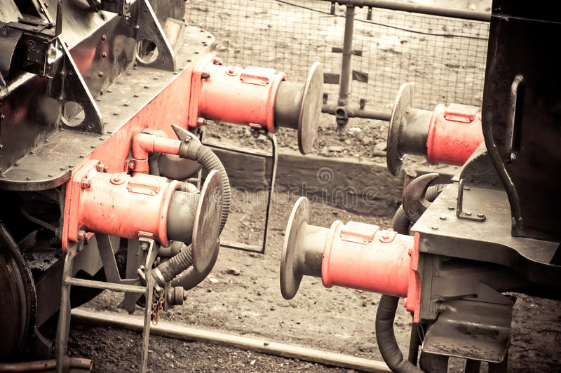Download Train coupling stock photo. Image of machine, steam, danger - 16988580