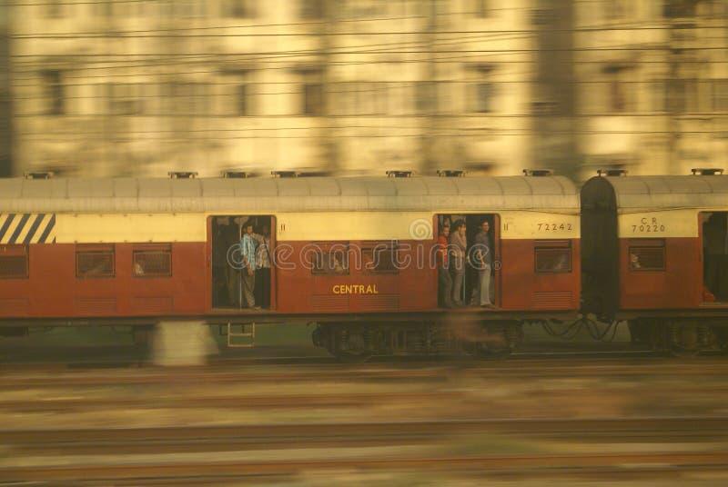 Train dans Mumbai photographie stock libre de droits