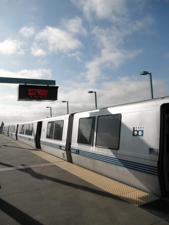 Train de BARONET à la gare occidentale d'Oakland photos libres de droits