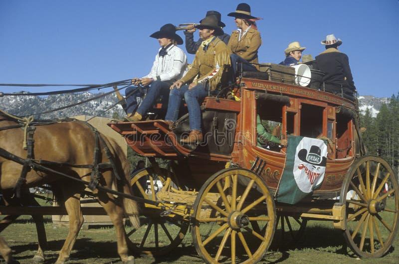 Train de chariot près de Sacramento photo stock