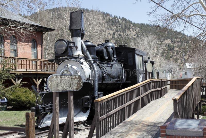Train de chemin de fer antique dans le Colorado images libres de droits