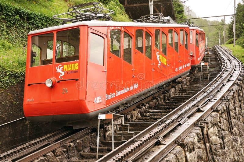 Train de chemin de fer funiculaire images stock